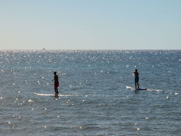 Beach Photography Beauty In Nature Blue Enjoyment Full Length Horizon Over Water Idyllic Leisure Activity Lifestyles Nature Outdoors Paddlesurf Scenics Sea Sky Tranquil Scene Tranquility Vacations Water
