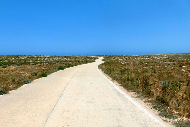 Mediterranean  Lampedusa  Italian Italy Agrigento Sicily Island Isle Street Road Route Endless Unending Infinity Infinité Future Nobody None Empty No People No Person Without