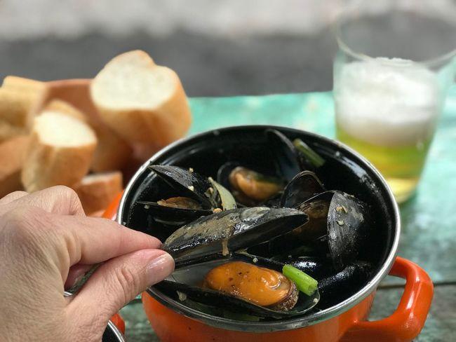 #belgium #food #mussel #beer #bread #delicious 🇧🇪 #Freshness Healthy Eating