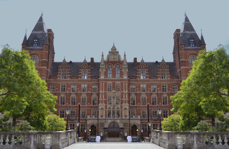 Architecture Building Exterior Capital Cities  Classic Exterior College Culture Exterior Façade Famous Place First Eyeem Photo Geometry Green History London Music Music College Nature Photography Red Royal Albert Hall School Trees