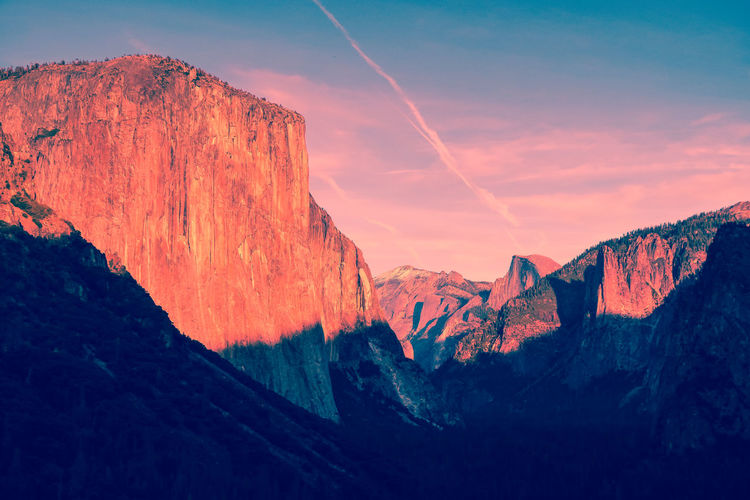 El capitan yosemire - scenic view of mountains against sky
