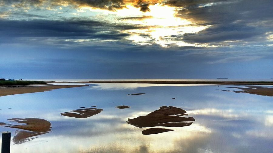 Reflection of clouds in water