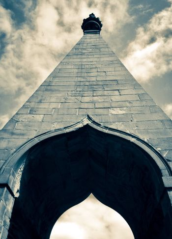 Needles eye leading our gaze to the heavens Beautiful Brickwork South Yorkshire Arch Architecture Building Building Exterior Built Structure Cloud - Sky Day History Looking Up Low Angle View Monument Historique Nature Needles Eye Neo-classical No People Outdoors Sky Tall - High The Past Tower Travel Wentworth