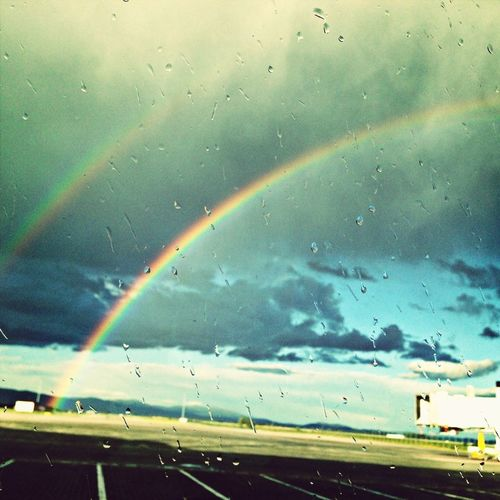 Not One But Two #rainbows At Sofia Airport, Worth Waiting For Boarding To Berlin