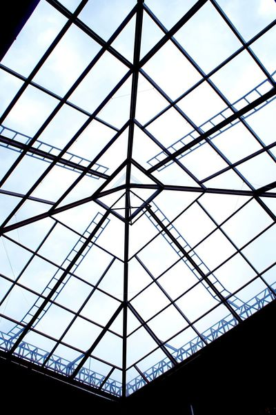 👀 Architecture Pattern Built Structure Low Angle View Indoors  Day Modern No People Sky Laviniafenton Winter Glass EyeEmNewHere
