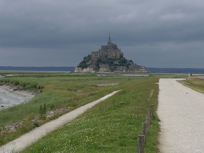 The Journey Is The Destination On The Way To The Mont Saint-Michel Holydays Beauty In Nature Landscape Outdoor Photography Bretagne France French Heritage Historical Monuments