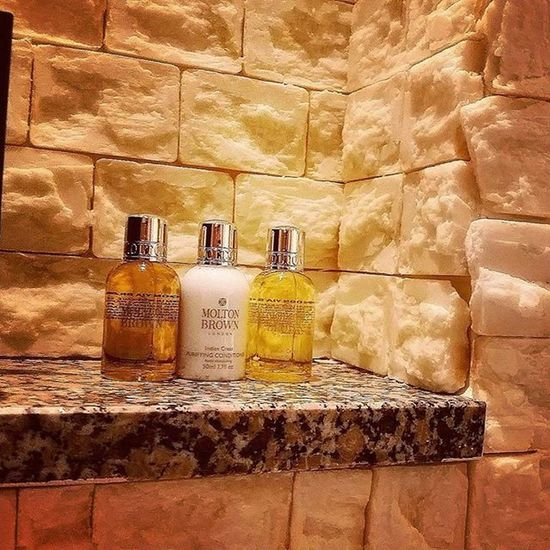The cleanest bathroom ever! The walls are made form bars of soap in the saatchi suite Hyatt London