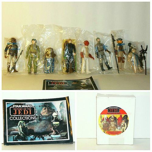 Star Wars, Return of the Jedi Action Figures, 1983, Ordered through J. C. Penny Catalog. Licensed, Trademark, Lucasfilm Ltd., Made by Kenner Products. Star Wars Collectables Old Toys Illustration Collectables