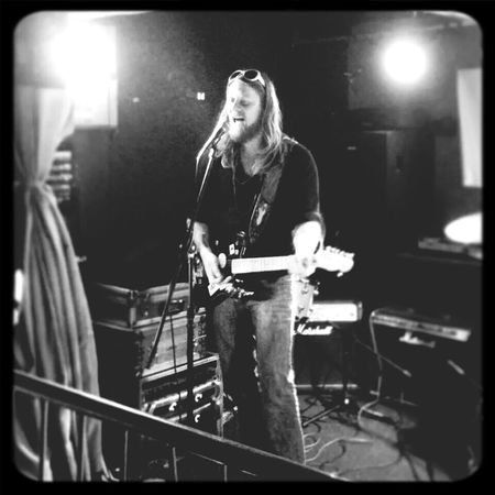 That's Me Enjoying Life Black And White Portrait Playing Music playing a gig
