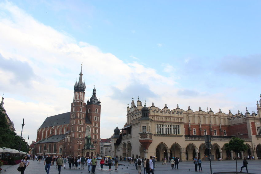 Architecture Art Church Happy Kraków, Poland Old Town People Shopping Sky Summer Tourism Town Square Travel