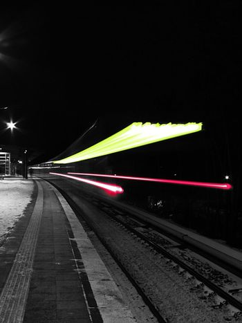 Zug durch! Berlin Night Lights Public Transportation City Lights Train Colorkey Light Trails S-bahn Life In Motion Station
