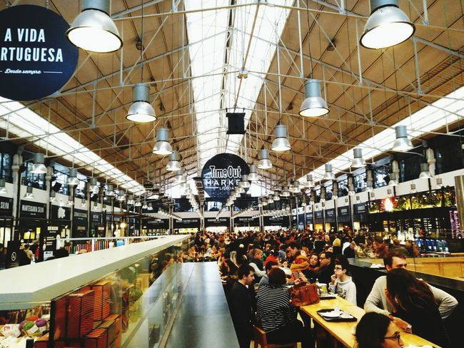 Indoors  Large Group Of People Real People Crowd Day Food Food Market Timeout TimeOut Market Travel Tasty Lissabon Lisboa Lisbon Portugal