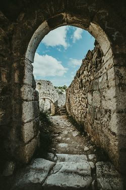 History Ancient Arch Cloud - Sky Sky No People Indoors  Day Architecture