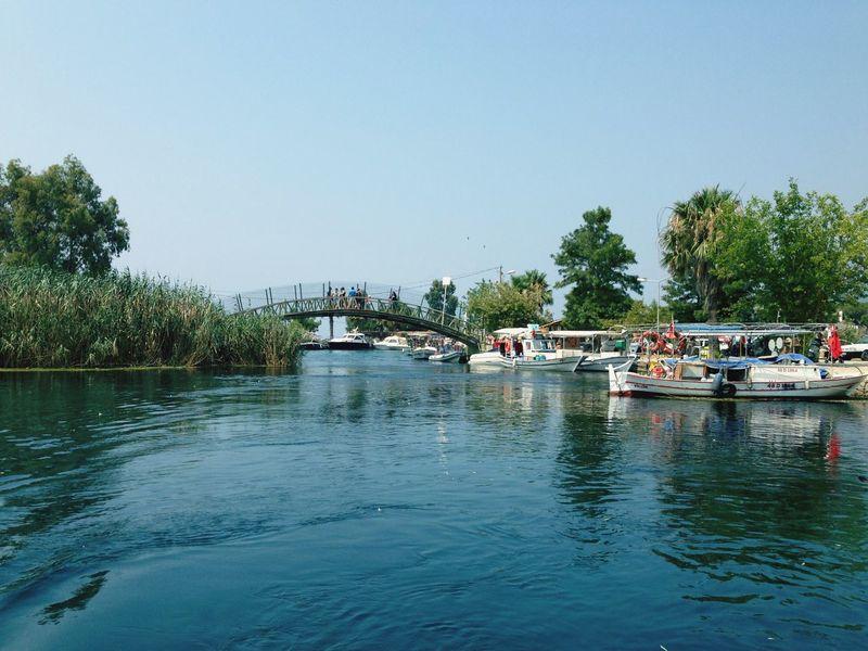 Akyaka River Bridge Boat Tourboat Summer Memories... Beautiful Nature View