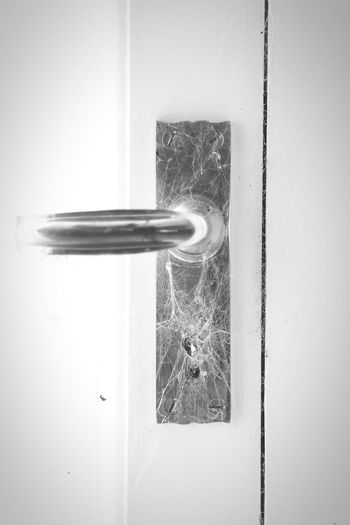 Door Lock Spiderweb Doorknob Close-up Spider Silk Spiderland Spider Eyes No Art But Good No People ArtWork