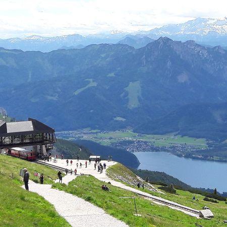Enjoying The Sun Excercising Outdoors Scenery Mountains Lake Landscape Stwolfgang Austria