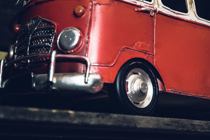 Mode Of Transportation Transportation Land Vehicle Retro Styled Motor Vehicle Car Red Vintage Car No People Metal Wheel Close-up Travel Truck Selective Focus Shiny Street Headlight Day Tire Chrome Analogue Sound