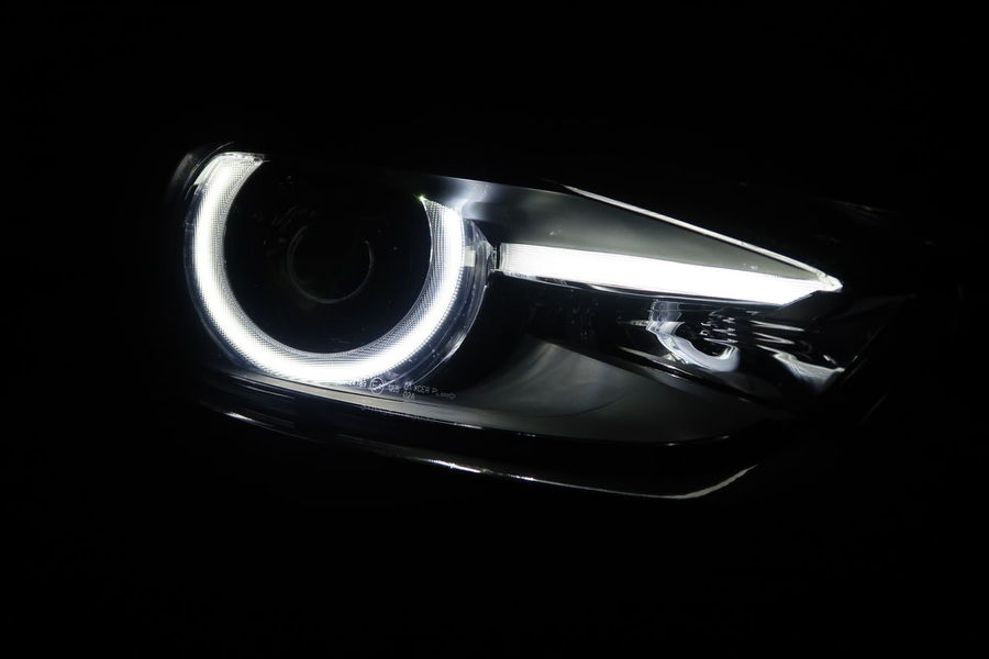 Close-up Black Background Indoors  No People Day Mazda MaZda3 マツダ アクセラ Car Head Light Led Headlight Eye Light
