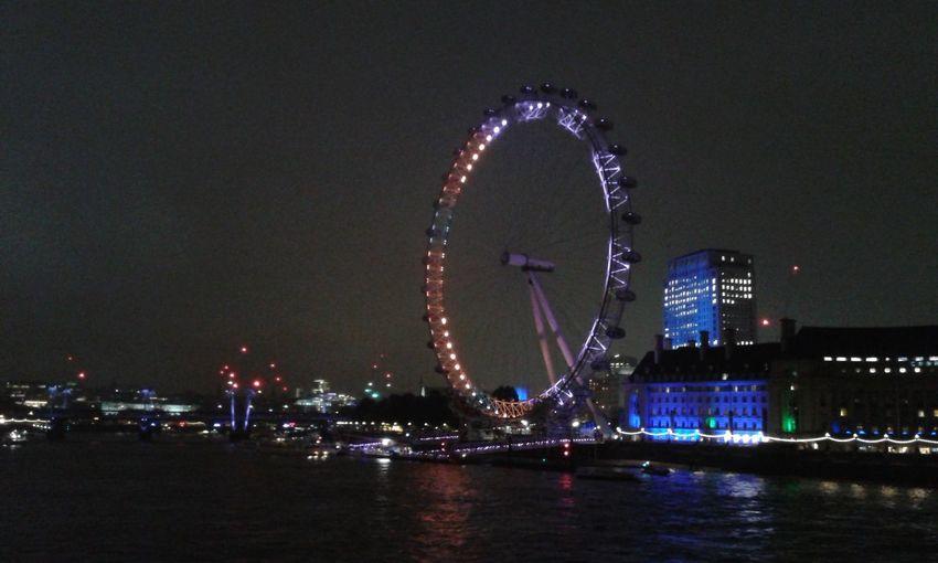 Cities At Night London Eye London Riverthames Londonsouthbank