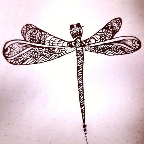 Dragonfly... Close-up Micronpen Zentangle Longshot Cross First Eyeem Photo