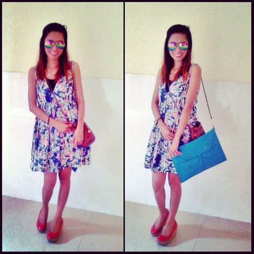 Ootd WIWT Shoesporn Sotd dress envelopBag red outfit love lookbook