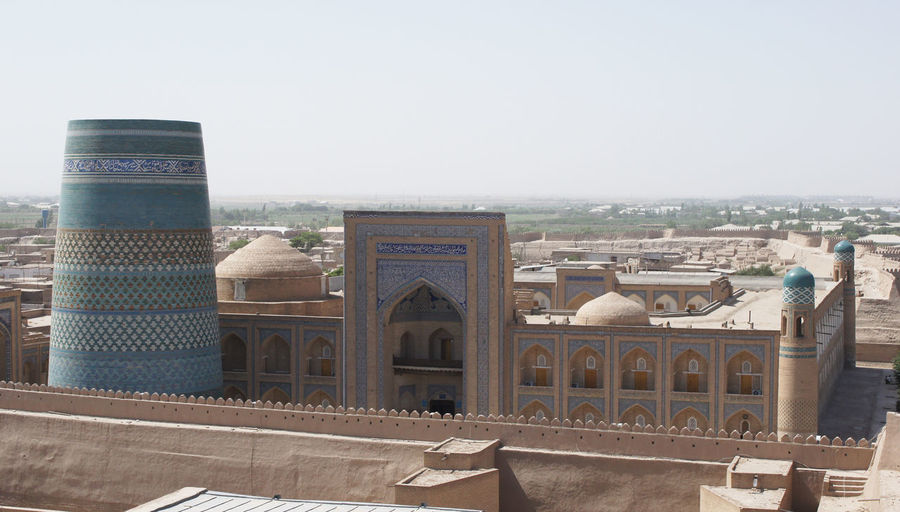 Khiva, Uzbekistan Architecture ASIA Building Exterior Buildings Built Structure Built Structures Central Asia Chor Minor City Famous Place Islam Islamic Architecture Khiva Madrassa Middle East Mosque Sights Sightseeing Silk Road Tourism Tourist Attraction  Town Travel Travel Destinations Uzbekistan