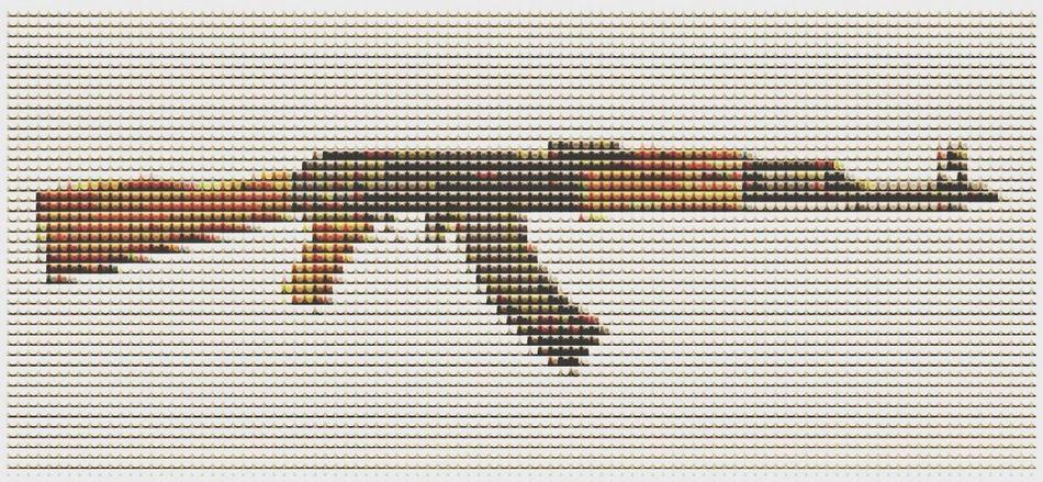 AK - Lego Kalashnikov LEGO Street Art