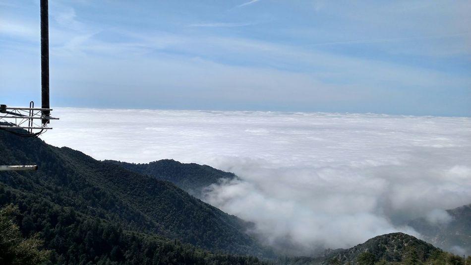 Skyline Clouds Mountains Mountain Biking