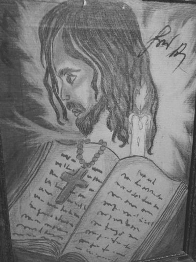 Saint Holy Face Bible Prayer Own Artwork Own Draw Candle Human Face Drawing Draw Paint Jesus Jesus Christ Catholic Religion