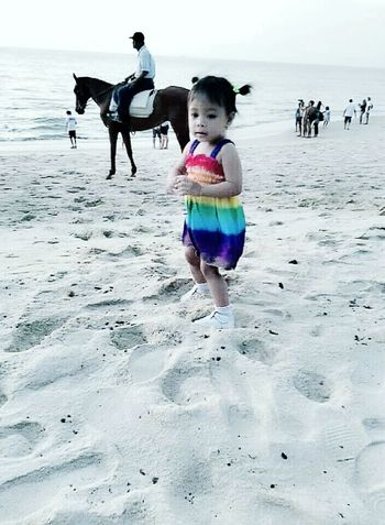 My little Damiaa first time at the beach in Penang , Malaysia Family Time Family Matters Enjoying Life We Are Family Life Is A Beach