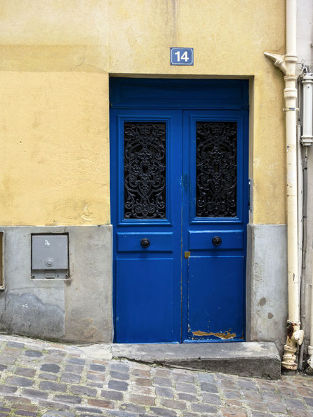 100happydays 14 Architecture Architecture Architecture_collection Blue Building Exterior Built Structure Christmas Closed Colorful Communication Day Door Entrance Entrance Entry Entryway Façade House Number Iconic Outdoors Paris Text