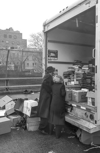 Untold Stories Jewish people buying books off a box truck Jewish Brooklyn David Gutierrez Pixelperfectnyc EyeEm Best Shots New York Life Studies Library