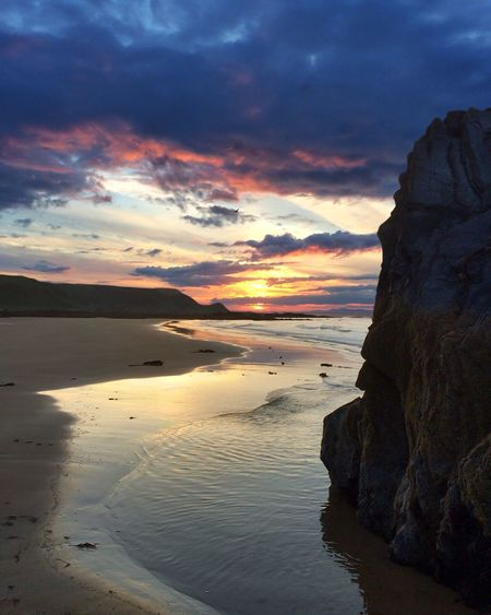 Sunnyside beach under Findhorn skies. Sunset Nikon Leefilters Sunrise_sunsets_aroundworld Nature Scotland Countryside Nature_collection Seascape Landscape Nature Photography Beach Morayshire