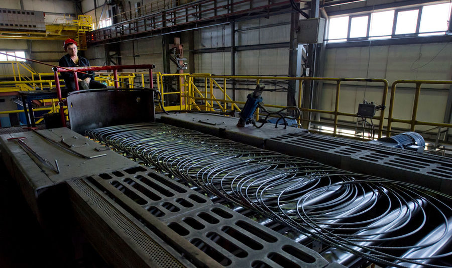 Russia, Yekaterinburg, Berezovsky metallurgical plant, manufacture of slabs, heating, packing rod Abundance City City Life Day Development Heating Machinery Packing Rod Russia, Yekaterinburg, Berezovsky Metallurgical Plant, Manufacture Of Slabs, Heating, Packing Rod