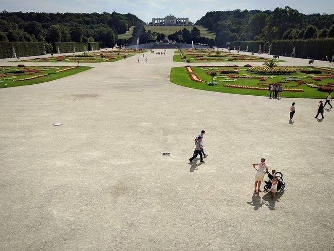 Schloß Schönbrunn Leisure Activity Clear Sky Summer Day Baroque Garden Landscaping Design Tourism