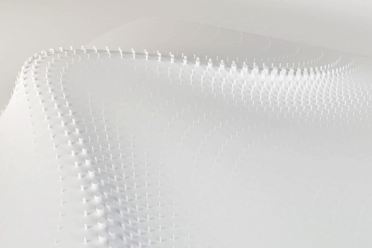 Full frame shot of white abstract curve background