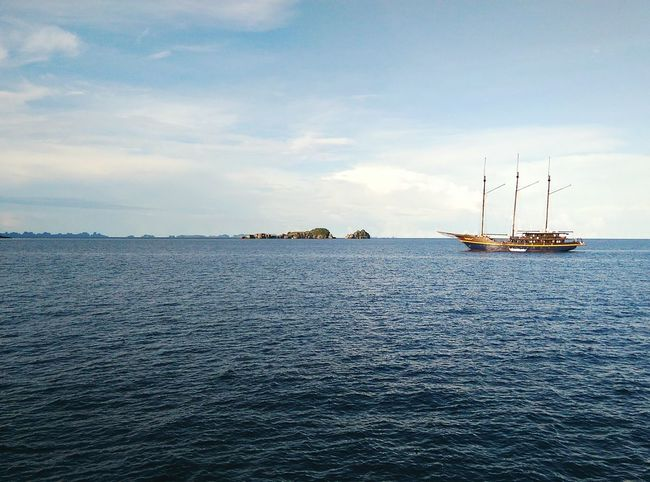 Most favorite time of the day Sunset Shades Of Nature Sailing Ship Nature Sunset_collection Horizon Over Water Sea_collection Nautical Vessel Outdoors Sailing Scuba Diving Rajaampat Liveaboard