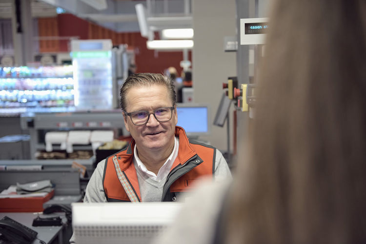 Portrait of woman working