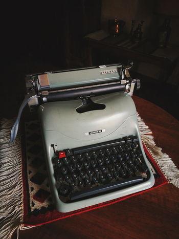 Indoors  No People Black Background Close-up Day Olivetti Typewriter Olivetti Typewriter