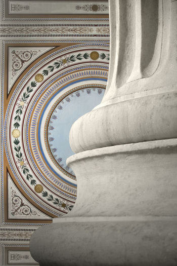 Art Athens Capitals  Column Design Detail Frescos Greece Neoclassical Shape Zappeion