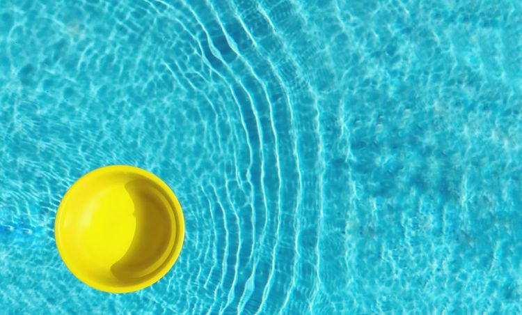 Swimming Pool Yellow Water No People High Angle View Rippled Blue Day Summer Close-up Outdoors Nature Sommergefühle