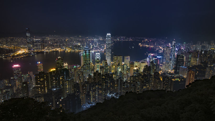 Building Exterior City Cityscape Night Built Structure Architecture Illuminated Building Skyscraper Office Building Exterior Crowd City Life Modern Crowded Aerial View Sky Tall - High Residential District Travel Destinations Outdoors Financial District  Nightlife Luminosity HongKong Hong Kong