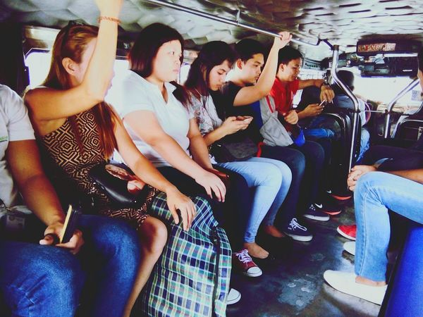 Jeepney Commuter Manila Philippines Road Public Transportation Public Transport Third World Country
