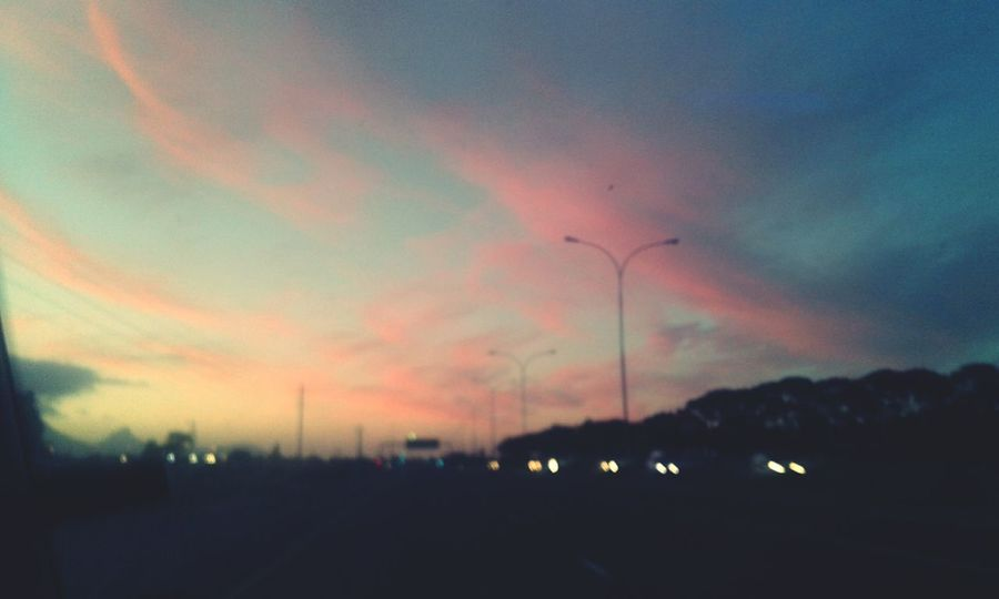 Sunset Dusk Cloud - Sky Nature Road Outdoors Multi Colored Beauty In Nature Sky Blue Pink Sky Cape Town International Airport