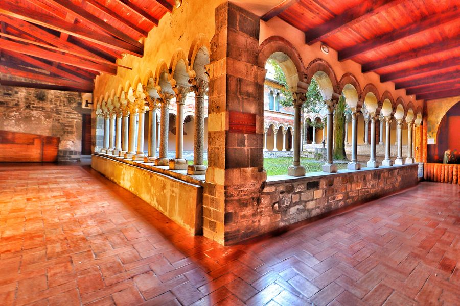 Piona Abbey Photo Photos Pic Pics Photography Art Architecture Canon Eos77D Exposure Abbey Color Picoftheday Picture Composition MR7 Middleages Architectural Column Indoors  Arch Built Structure No People Travel Destinations Multi Colored Illuminated Day