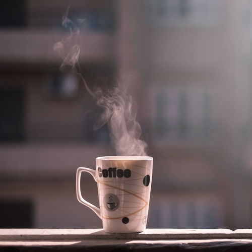 Cozy coffee in the morning. Coffee Coffee - Drink Coffee Cup Cup Drink EyeEm Gallery EyeEmNewHere FUJIFILM X-T1 Hot Refreshment Smoke - Physical Structure Steam
