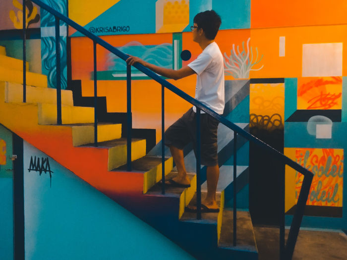 walking trough murals EyeEm Selects Surftown Jlex95 Murals San Juan La Union Philippines Surfing Capital Of The North Mobilephotography Lgg6 Staircase Steps And Staircases One Person Steps Adults Only Adult Working Occupation People