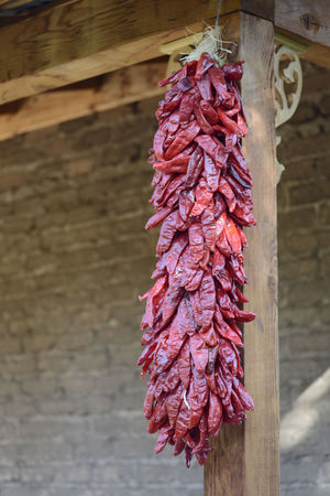 Chile ristra. New Mexico Ristra Chile Peppers Drying Food Red Southwest