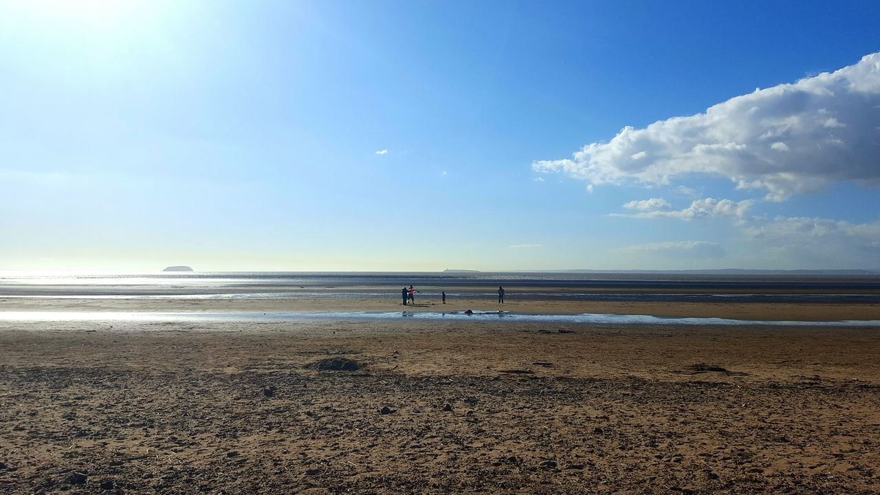 Family At The Beach Blue Sky Sky_collection People People Photography Sand Beach Stones Beach Photography Sand Nature Beach Landscape Sky And Clouds Sea And Sky Clouds Sky Sea Landscape_Collection Photography In Motion Light And Shadow Sun