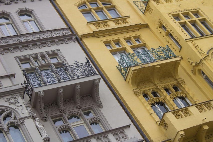 City Praha Architecture Buildings Built Structure History Low Angle View Pattern Steert Window